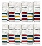 Yacht & Smith Big And Tall Mens Athletic Cotton Tube Socks, Wholesale Bulk Pack Referee Socks - King Size, by SOCKSNBULK