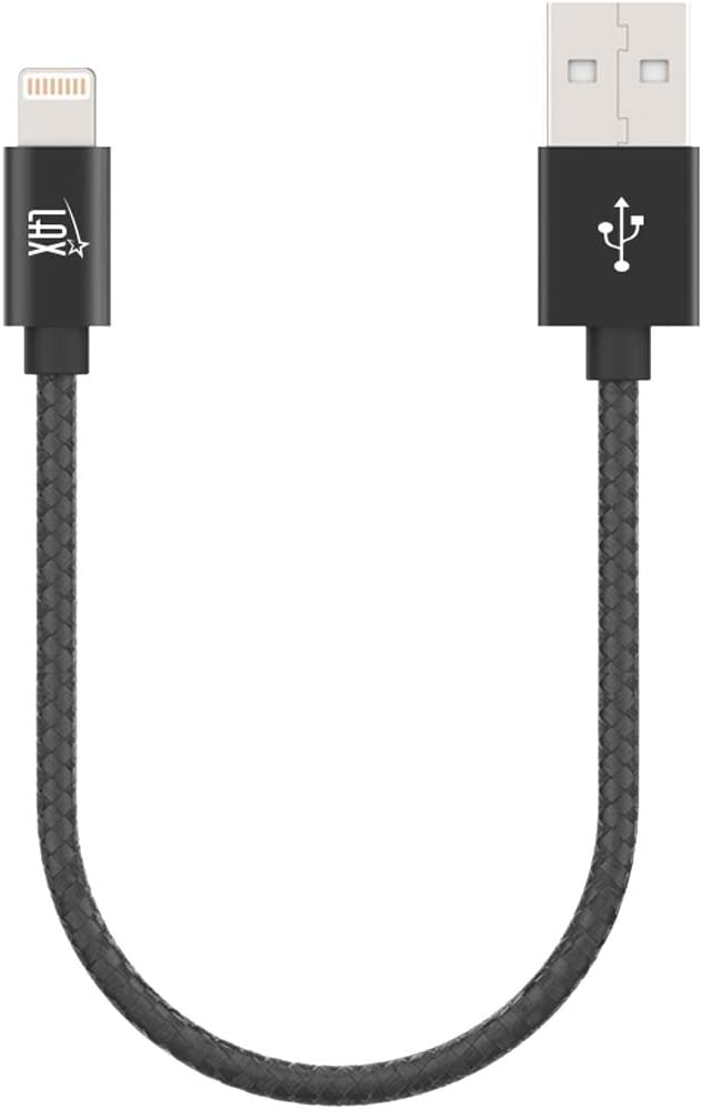 LAX iPhone Charger Lightning Cable - MFi Certified Durable Braided Apple Lightning USB Cord for iPhone 11/11 Pro Max/XS Max/X/iPad, iPod & More