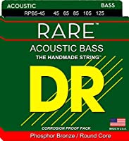 DR Strings Rare- Phosphor Bronze Acoustic5 String Bass 45-125