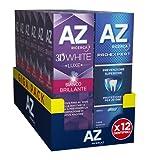 az dentifrici 3dwhite luxe bianco brillante e pro-expert prevenzione superiore, 12 confezioni