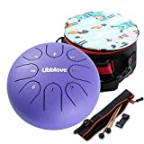 Tongue Drum,Steel Drums 8 Notes 6 inches Musical Meditation Drum Percussion Instrument with Drum Mallets and Carry Bag,Great Gift for Beginner Adult Kid. (Purple 6 inch)