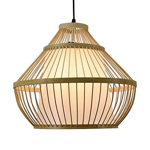 CSSYKV Araña De Bambú De Estilo Chino Lámparas Colgantes Modernas Y Sencillas De Estilo Pastoral Lámpara Colgante De Decoración De Sala De Estar Interior Accesorio De Iluminación Base E27 Lámpara Indi