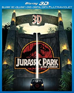 Jurassic Park 3D - Le Parc Jurassique 3D [Blu-ray 3D + Blu-ray + DVD + UltraViolet] (Bilingual) (B00BFWK9PI) | Amazon price tracker / tracking, Amazon price history charts, Amazon price watches, Amazon price drop alerts