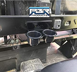 PBR Products fits POLARIS RANGER CREW 2018 and UP BLACK Back Seat JUMBO CUP HOLDERS
