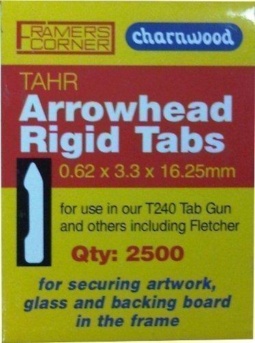 Charnwood Picture Framing TAHR 16mm Arrowhead Tabs, 2500pcs