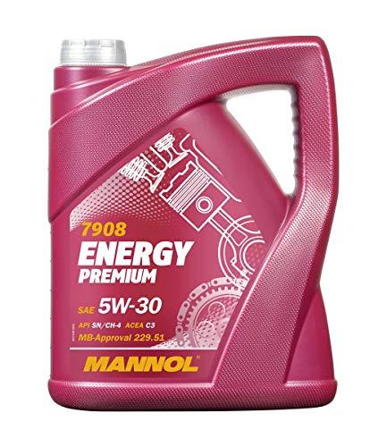Mannol Energy Premium 5W-30 API SN/CF motorolie, 5 liter