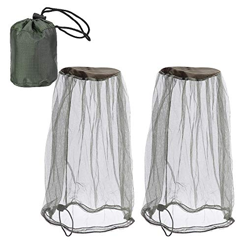 2 Pack Mosquito Head Net Face Mesh Head Cover for Outdoor Lovers Protect from Fly Screen Mosquito Gnat and Other Flies Bug Net