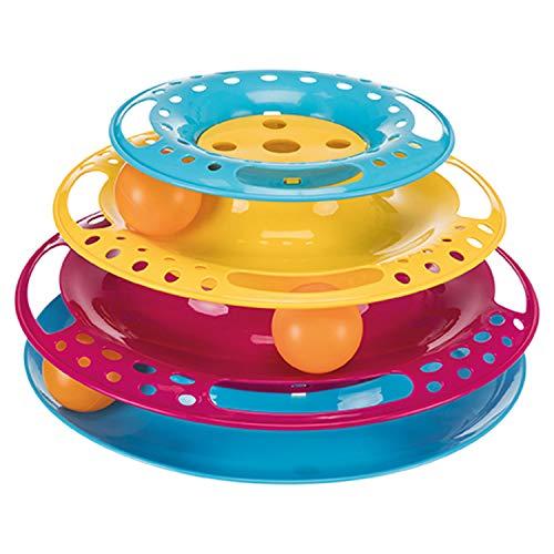 TRIXIE Torre Círculo de juego, Plástico, ø25 cm/13 cm, Gato