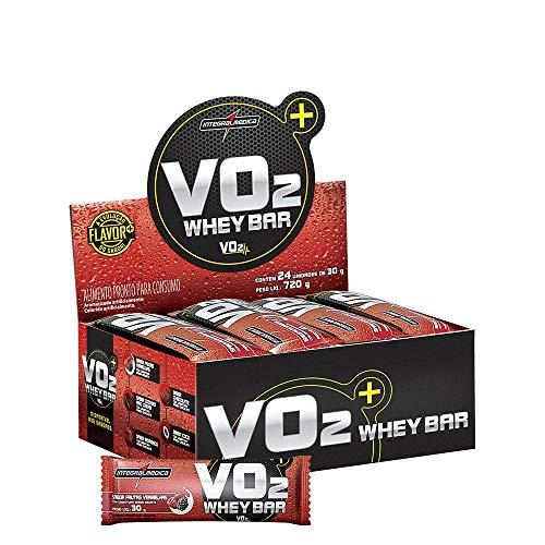 Vo2 Protein Bar Frutas Vermelhas com Iorgute, IntegralMedica, 24 Unidades 30g