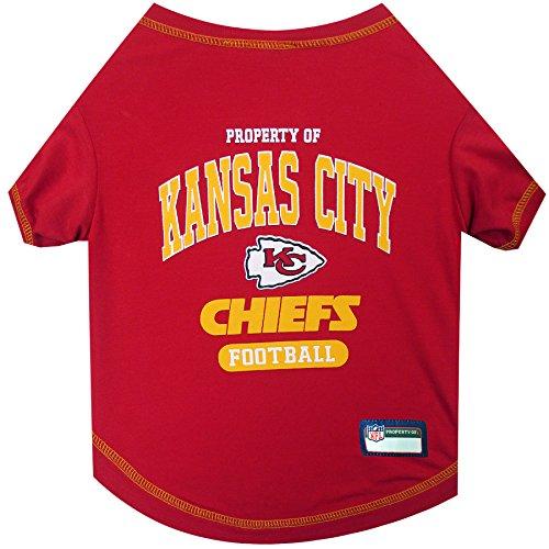 PET SHIRT for Dogs & Cats - NFL KANSAS CITY CHIEFS Dog T-Shirt, Medium. - Cutest Pet Tee Shirt for the real sporty pup