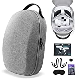 SARLAR Design Hard Carrying Case for Oculus Quest 2/ Elite Strap Edition/Quest Lightweight and Portable Protection, Custom Travel Case Storage VR Gaming Headset and Touch Controller Accessories
