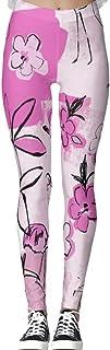 DIYCCY - Pantalones de yoga para mujer, color rosa brillante, cintura alta