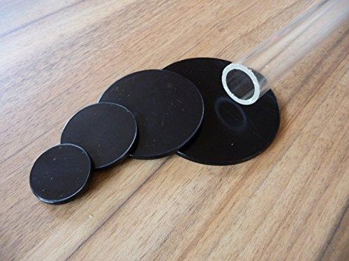 Alt-intech® Plexiglas® plaat rond Ø 30 mm - Ø 120 mm verschillende maten zwart