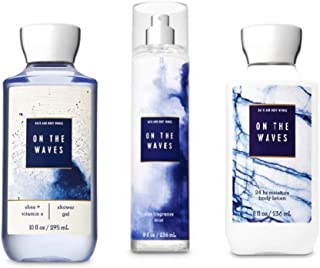 Bath and Body Works - Signature Collection - On the Waves - Shower Gel, Fine Fragrance Mist & Super Smooth Body Lotion - Daily Trio - Summer 2019