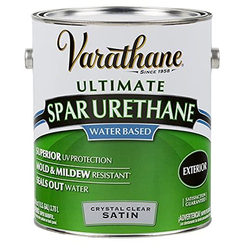 1 gal Rust-Oleum Brands 250231 Clear Varathane, Diamond Water-Based Spar Urethane, Satin Pack of 1