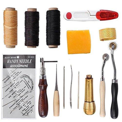 test SDMaket Lederwerkzeugset Handwerkzeug Couture Lederprodukt Handnähwerkzeugset (Typ 1) Deutschland