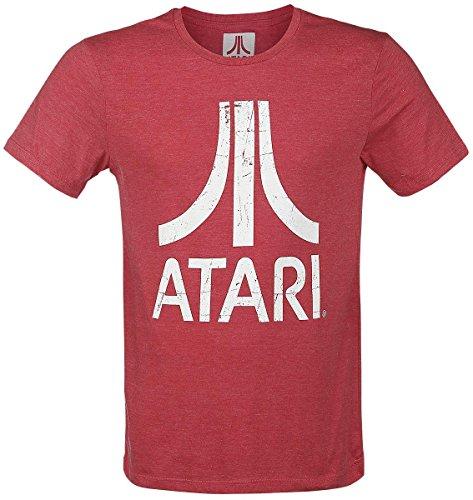 Atari - Logo Homme T-Shirt - Rouge - Taille Medium