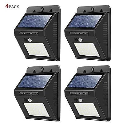 Solar Lights Outdoor,High Brightness Wireless Waterproof Security Solar Motion Sensor Lights,for Outdoor Patio, Garden, Deck, Yard, Drive, Outside Wall, Fence etc