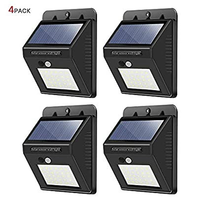 Solar Lights Outdoor,30 LED Wireless Waterproof...