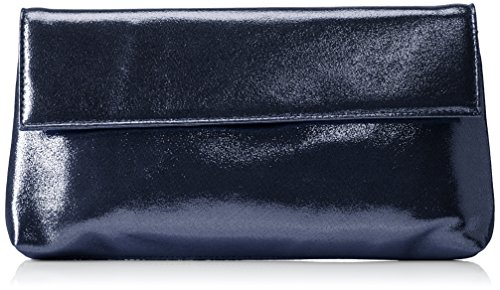 Paco Mena Damen Acebo Clutches, Blau (Midnight Blue 21), 27x15x2 cm
