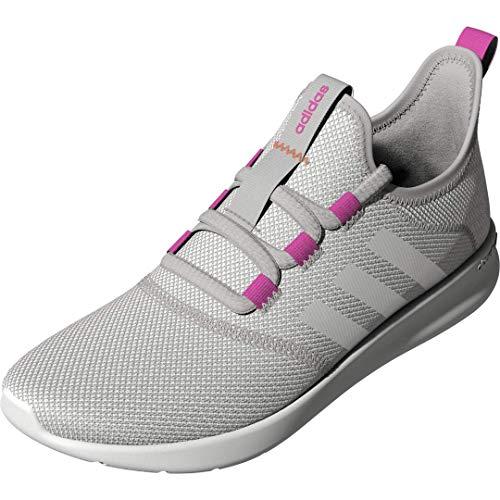 adidas Women's Cloudfoam Pure 2.0 Running Shoes, Grey/White/Screaming Pink, 7