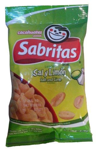 Sabritas Peanuts, Sal Y Limon, 7 Ounce