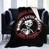 JICOTIA Social Distortion Mommys Little Monster Velvet Touch Ultra Soft Flannel Micro Fleece Blanket Bedroom Living Room Sofa Home Decor Warm Blanket - All Season Premium Bed Blanket 50'x40'