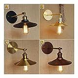 XLY Lámparas E27 Luz a la Pared Retro Vendimia plateó Loft Hierro lámpara de Pared lámpara de 40W Retro Industrial baño Escalera Lámpara Luminaria Antiguo (Lampshade Color : Brown)