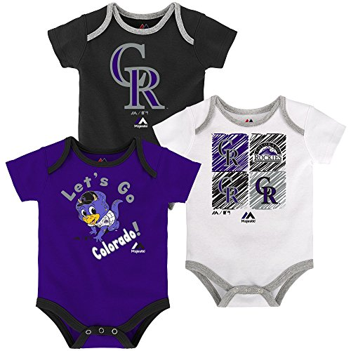 Colorado Rockies Infant Black White Purple