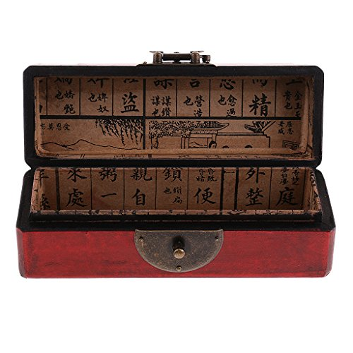 Caixa de almofada de madeira feita à mão vintage Homyl chinesa caixa de joias e estampa de pássaro de flor