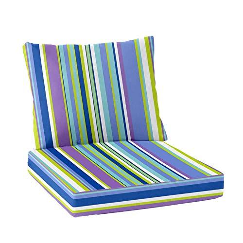 YWTT Almohadillas de cojín para Tumbona, cojín Largo para Silla reclinable, cojín Grueso, Plegable, de Ocio, con Respaldo Alto, cojín para Asiento de sofá, cojín para Tumbona de jardín (Azul)
