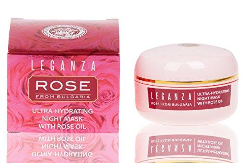 Mascarilla Facial Nocturna Ultra Hidratante con Aceite Esencial de Rosa de Bulgaria