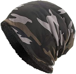 vermers Women and Men Winter Warm Hats Baggy Camouflage Crochet Hats Wool Ski Beanie Skull Caps