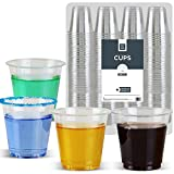Disposable Clear Plastic 3 Oz shot Cups (160 Cups) Good for Condiments, Jello Shots, Tasting, Sauce, Dipping, Samples, Clear and Fully Transparent (Cold Cup)