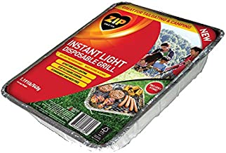 Zip Instant Light Disposable 500-Gram Charcoal Briquette BBQ Grill/Tray