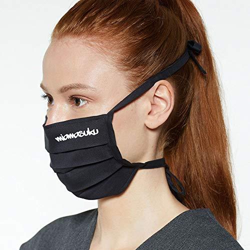 miamasuku® Maske - Stoffmaske Behelfsmundschutz aus 100% Baumwolle - waschbar - mit Stoffbändern verstellbar