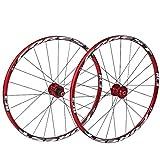 Set Ruote Bici 26'/ 27,5' Freno a Disco MTB Ruota di Bicicletta Cerchio in Lega a Doppia Parete QR Cassetta 7-11 velocità Cuscinetto sigillato NBK Pneumatici da 1,5'-2,5' 1790 g