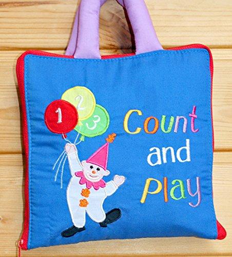 布絵本count and play かずあそび ピエロのカウント&プレイ 英語刺しゅう版