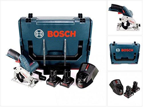 Bosch GKS 12V de 26Professional batería Sierra circular de mano 85mm en L-Boxx con 2x GBA 6,0Ah Batería Y Gal 1230CV Cargador