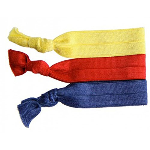 Twistband ALEX set 3 élastiquesrouge, navy et jaune