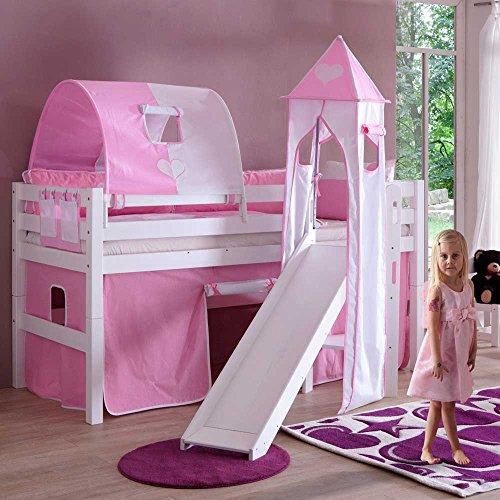 Pharao24 Kinderhochbett Sky für Mädchen
