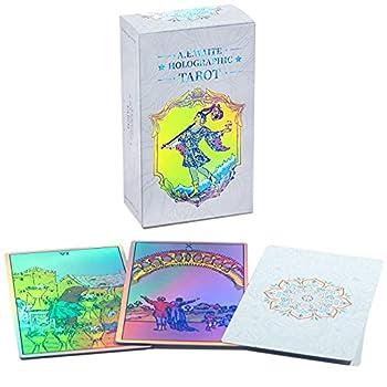 MagicSeer Rainbow Tarot Cards Decks Tarot Card and Book Sets for Beginners Holographic Tarot Deck