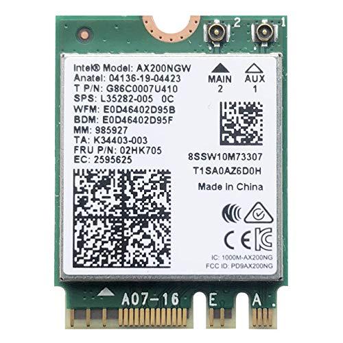 VANLONTD WiFi 6 AX200 WiFi Card | 2400Mbps Wireless Module | Bluetooth 5.1 WiFi 6 Modul | 802.11AX Dual Band Wireless Adapter für Laptop Desktop mit Intel Modell Chrome OS, Windows 10 und Linux
