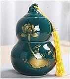 LSYFCL urna Catalunya Mini Urnas de cremación Urnas funerarias para Mascotas Caja de cremación Mini Forma de Calabaza de cerámica con Espacio de Doble Capa.