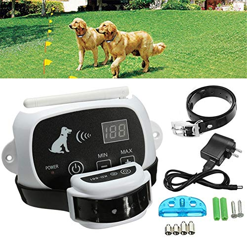 2in1 Electric Dog Fence, Wireless Fence Containment System, Best Pet Safety, with Waterproof & Rechargeable Training Dog Collars Receiver for All Dogs(for1/2/3dogs),for2dogs