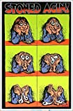 Stoned Agin' by R Crumb Blacklight Poster - Flocked - 23' x 35'