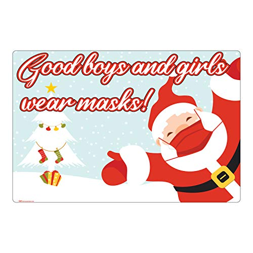 Holiday Wear a Mask - Vinyl Banner - 36x24in (Christmas)