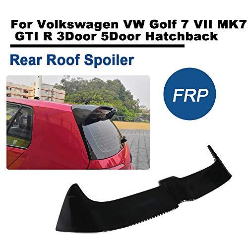 TGFOFfür Golf 7 VII MK7 GTI R 3Tür 5Tür Hatchback 2014-2018 FRP Heckspoiler Glanz Schwarz Dachspoiler Heckflügel Lipp