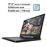 Dell G7 7790 17.3 Inch FHD 1080P Gaming Laptop, Intel 6-Core i7-9750H up to 4.50 GHz, NVIDIA RTX 2060 6GB, 32GB DDR4 RAM, 512GB SSD (Boot) + 1TB HDD, HDMI, WiFi, RGB Backlit KB, Windows 10 Home