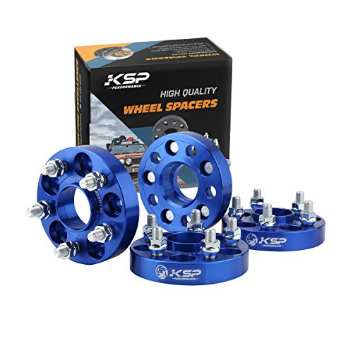 KSP 5X100 Wheel Spacers 25mm Fit for 5 lug 1992-2019 Impreza,2000-2013 Outback,1989-2014 Legacy,1998-2017 Forester,Scion FR-S 12x1.25 Thread 56.1mm Hub Bore Hubcentric Blue Wheel Adapters